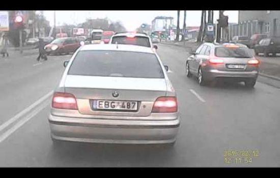 Kelių eismo taisyklių pažeidimas Šiauliuose