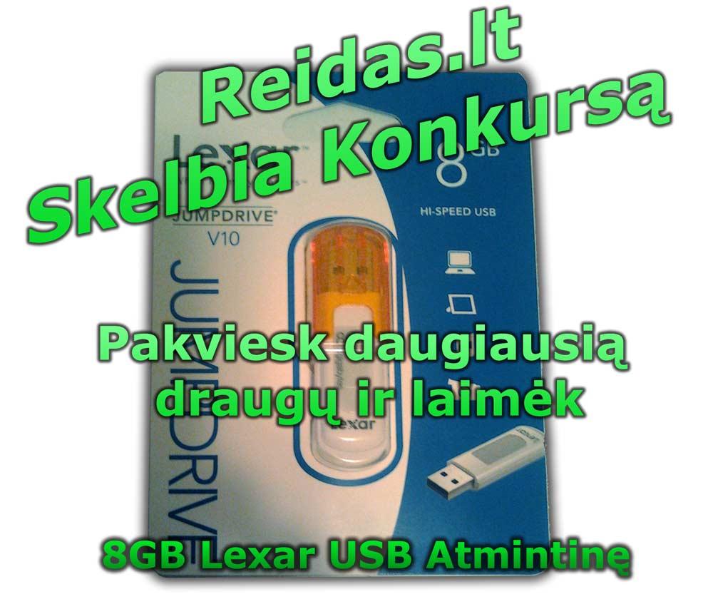 Pakvietimų konkursas laimėti 8GB USB atmintinę